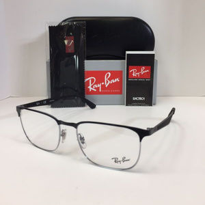 Ray-Ban Accessories - Ray-Ban RB 6363 2861 Silver Black Eyeglasses